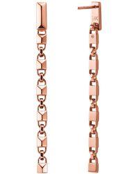Michael Kors Mercer Link Sterling Silver Drop Earrings In 14k Gold - Plated Sterling Silver - Metallic