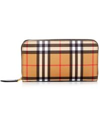 Burberry - Vintage Check Elmore Zip Around Wallet - Lyst