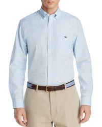 Vineyard Vines Tucker Gingham Classic Fit Button - Down Shirt - Blue