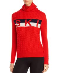 Perfect Moment Super Striped Merino Wool Sweater - Red
