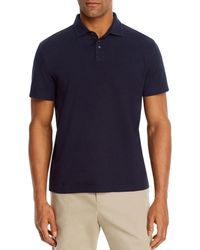 Bloomingdale's Linen & Cotton Solid Classic Fit Polo Shirt - Blue