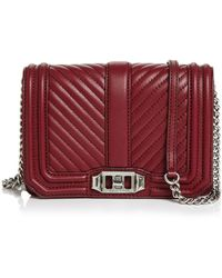 Rebecca Minkoff - Love Small Chevron Quilted Leather Crossbody - Lyst