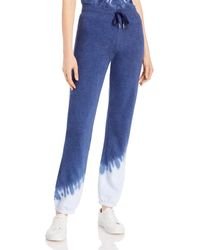 Marc New York Side Burst Tie Dyed Jogging Trousers - Blue