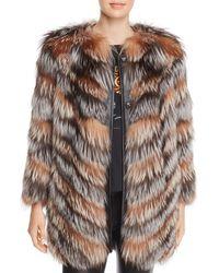 Maximilian X Zac Posen Fox Fur Coat - Multicolor