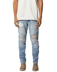 Hudson Jeans Biker Skinny Fit Jeans In Thrasher - Blue