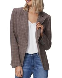 PAIGE Chelsee Plaid Blazer - Multicolour