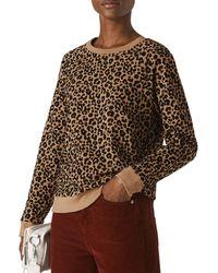Whistles Leopard - Print Jumper - Brown