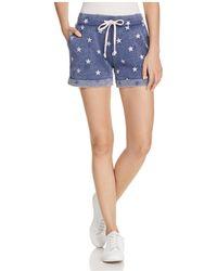 Alternative Apparel - Star Print Shorts - Lyst