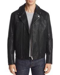c8e27fc87 Lyst - Ted Baker Wildone Biker Leather Jacket in Black for Men