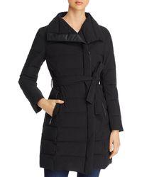 T Tahari Kim Lightweight Puffer Coat - Black