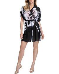 Gottex Midnight Rose Shirt Dress Swim Cover - Up - Black