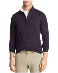 Bloomingdale's - Tipped Quarter-zip Long Sleeve Pullover - Lyst