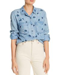 Billy T Puppy Love Printed Button - Down Shirt - Blue