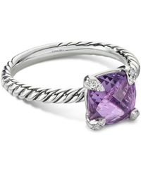 David Yurman Châtelaine® Ring With Amethyst And Diamonds - Multicolor