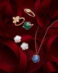Pasquale Bruni 18k Rose Gold Petit Joli Earrings With Carnelian & Diamonds - Red