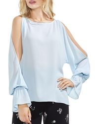 Vince Camuto - Cold-shoulder Flare-cuff Top - Lyst