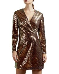 Ted Baker Sequined Mini Dress - Pink