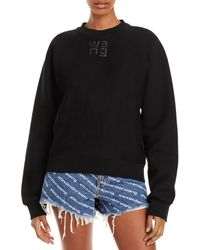 T By Alexander Wang Foundation Cotton Terry Sweatshirt - Black