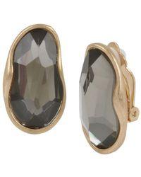 Robert Lee Morris - Stone Clip-on Earrings - Lyst