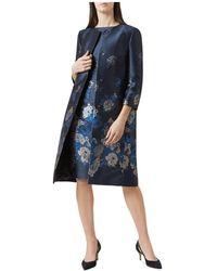 Hobbs - Yen Floral Jacquard Coat - Lyst