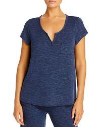 Yummie Henley Pyjama Tee - Blue