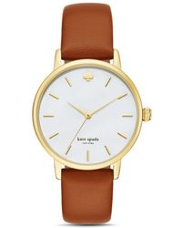 Kate Spade - Metro Leather Strap Watch - Lyst