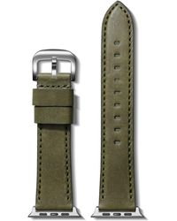 Shinola Essex Leather Strap For Apple Watch® - Green