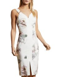 Ted Baker Woodland Bodycon Dress - White