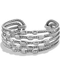 David Yurman - Confetti Wide Cuff Bracelet With Diamonds - Lyst