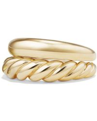 David Yurman - Pure Form Stack Rings In 18k Gold - Lyst