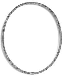 John Hardy Sterling Silver Classic Chain Extra Small Necklace - Metallic
