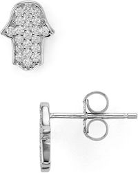 Aqua | Hamsa Stud Earrings | Lyst