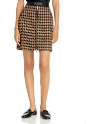 Karl Lagerfeld Houndstooth Mini Skirt - Multicolor
