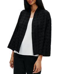 Eileen Fisher - Organic Cotton Textured Kimono Jacket - Lyst