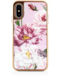 87a08c1b9c4ba9 Lyst - Ted Baker Korrii Cardholder Iphone X   Xs Case in Pink