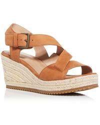 Eileen Fisher Women's Beckon Espadrille Wedge Sandals - Brown