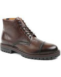 Bruno Magli Hollis Lace Up Boots - Brown