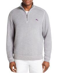 Tommy Bahama Tobago Bay Half - Zip Sweatshirt - Gray