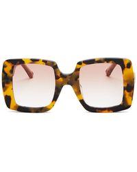 Karen Walker Women?s Square Sunglasses - Brown