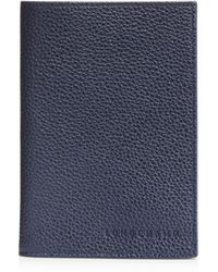 Longchamp Le Foulonné Passport Wallet - Blue