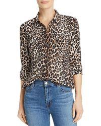 Equipment Slim Signature Leopard Printed Silk Shirt - Natural