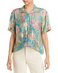 Hemant & Nandita Printed Oversized Shirt - Multicolour