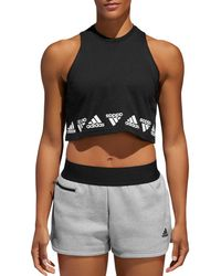 adidas - Bos Repeat Cropped Top - Lyst
