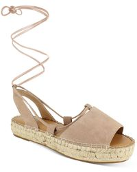 Splendid Meredith Almond Toe Strappy Espadrille Platform Sandals - Natural