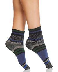 Hue - Striped Metallic Shortie Socks - Lyst