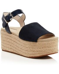 Kenneth Cole - Women's Indra Suede & Patent Leather Platform Espadrille Wedge Sandals - Lyst