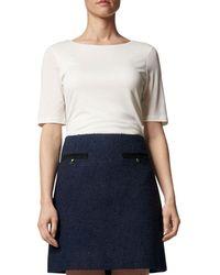 L.K.Bennett - Charlee Tweed Mini Skirt - Lyst