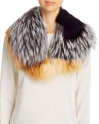 Maximilian Patchwork Fox Fur Collar - Multicolor