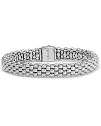 Lagos Caviar Oval Rope Bracelet - Metallic