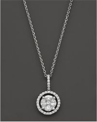 Bloomingdale's - Diamond Pendant Necklace In 14k White Gold, .55 Ct. T.w. - Lyst